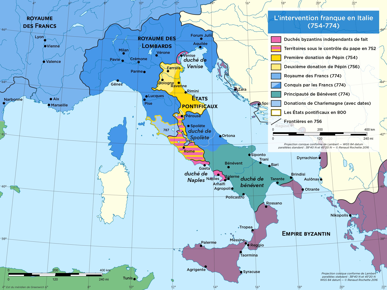 Naissance des États pontificaux