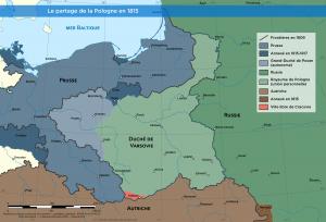 Le partage de la Pologne en 1815