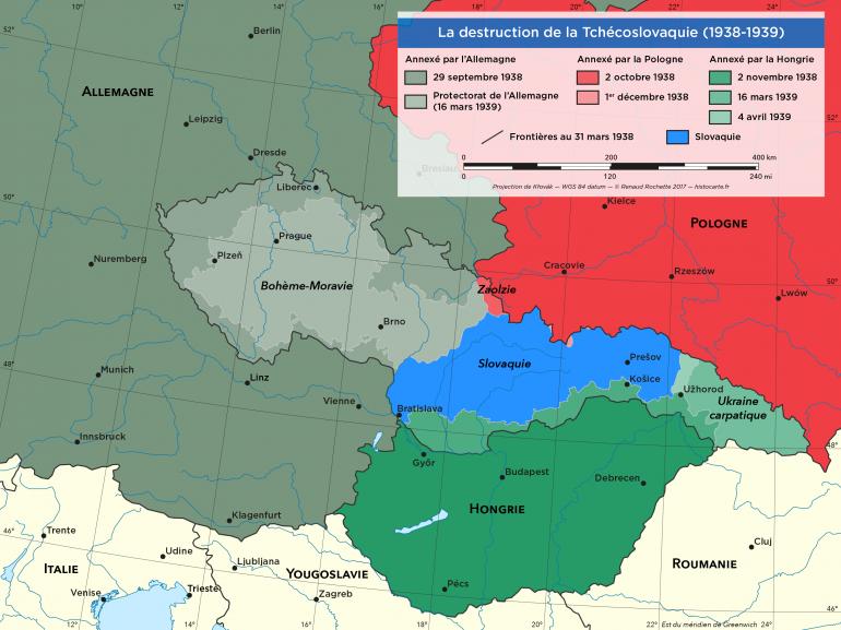 Le dépeçage de la Tchécoslovaquie 1938-1939
