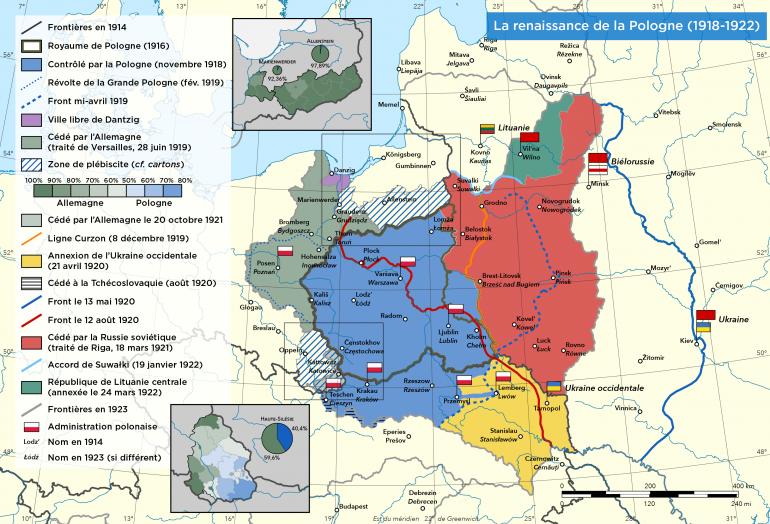 La Pologne au lendemain de la Première Guerre mondiale