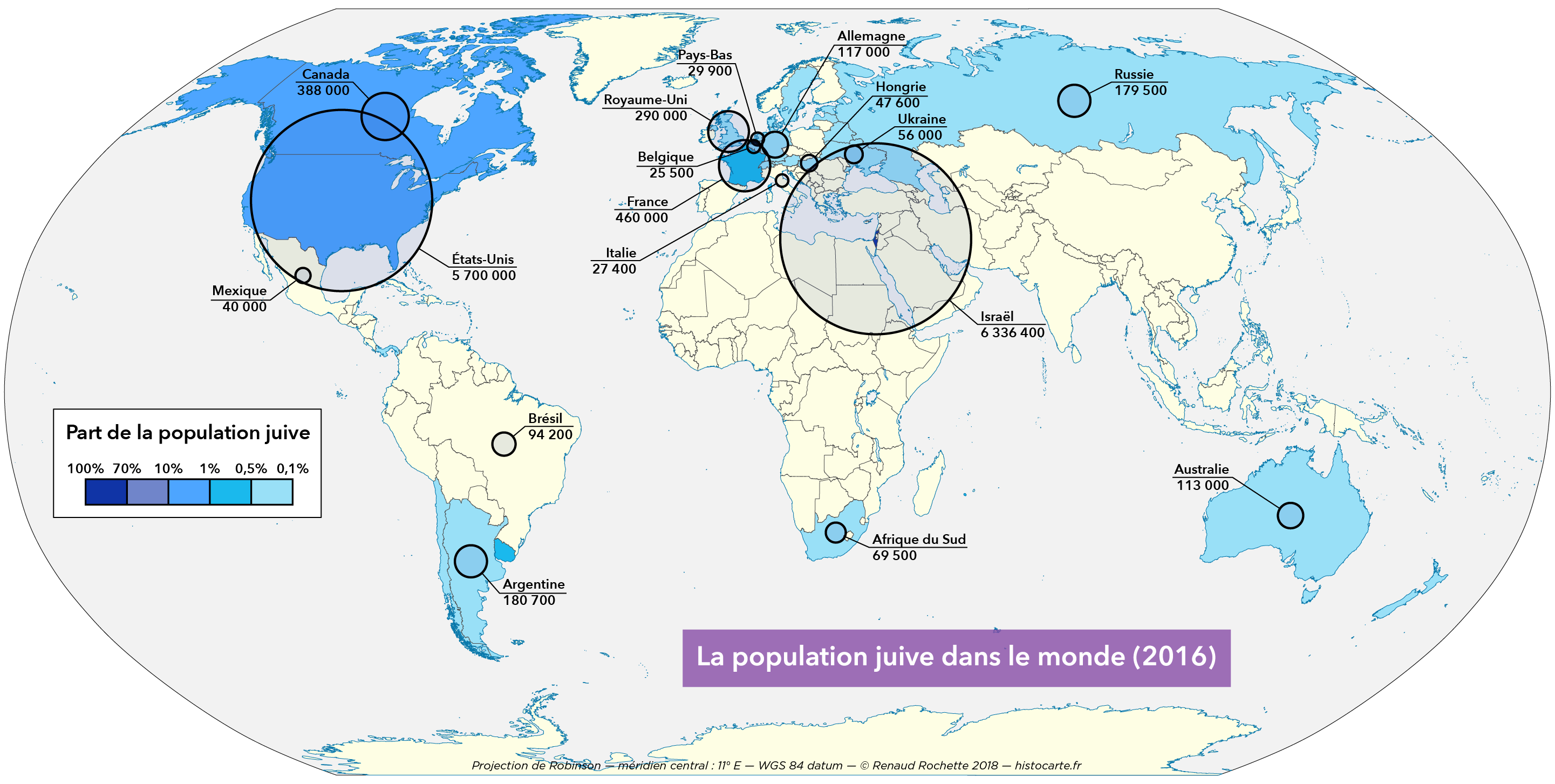 La population juive dans le monde