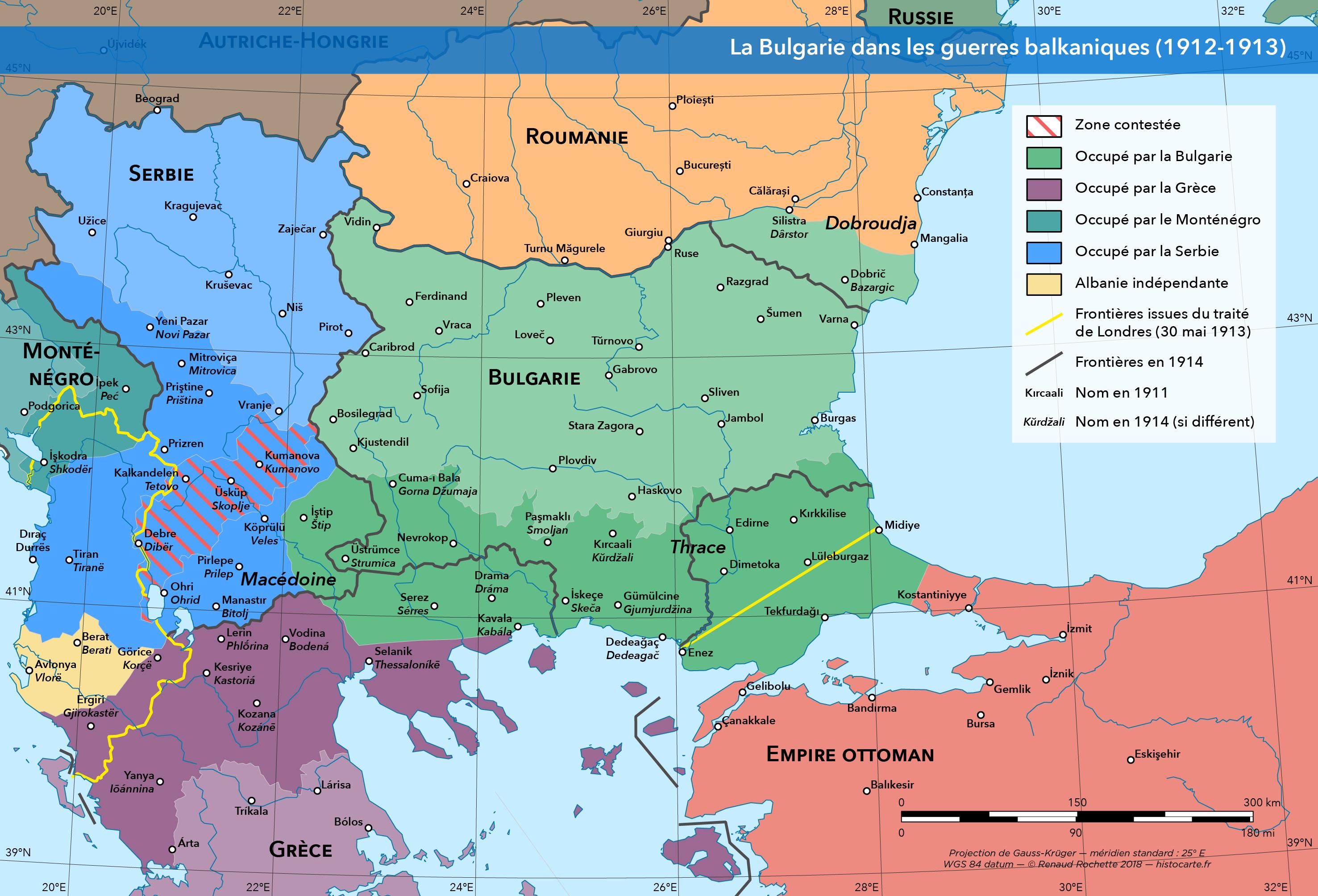 La Bulgarie pendant les guerres balkaniques
