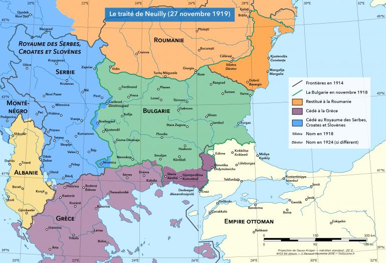 Frontières issues du traité de Neuilly