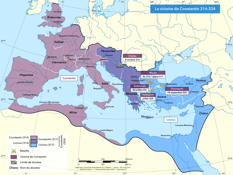 La victoire de Constantin 314-324