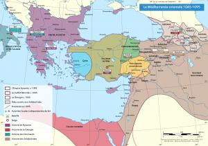 carte du Proche Orient 1045-1095