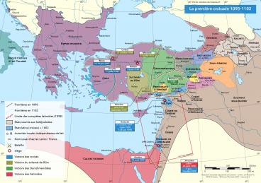 Changements territoriaux à l'occasion de la première croisade