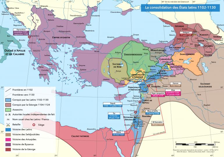 Le Proche Orient 1102-1130